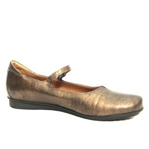 NEW TAOS Gold Brown Leather Flat Comfort Shoes 40